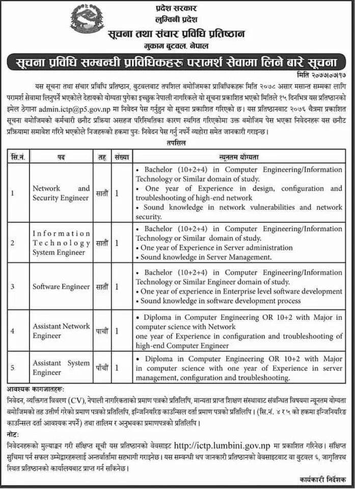 loksewa aayog vacancies of lumbini state nepal